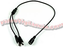 CABLE ALIMENTACION DOBLE MACHO 2,1