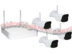 KIT 4 CÁMARAS IP WIFI FULL HD GRABACIÓN INALÁMBRICA