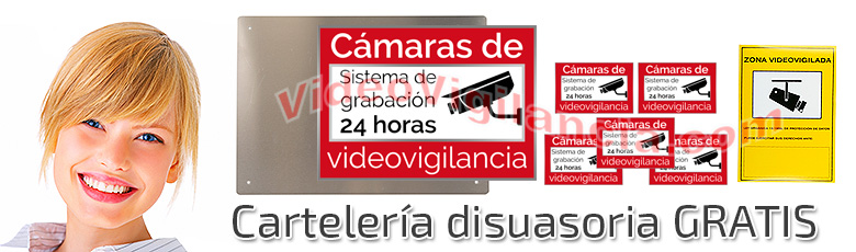Carteles gratis con su kit de videovigilancia Full HD varifocal