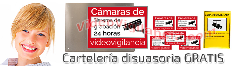 Carteles gratis con su kit videovigilancia Full HD